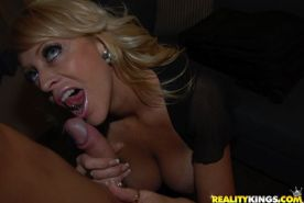 A horny blonde amateur wifey gets fucked