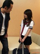 Horny Japanese teen in uniform getting boned and creampied