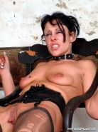 Pierced needle torture and extreme bdsm of crying painslut Crystel Lei in tit to #72066715
