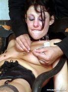 Pierced needle torture and extreme bdsm of crying painslut Crystel Lei in tit to #72066750