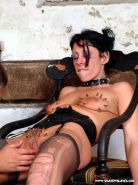 Pierced needle torture and extreme bdsm of crying painslut Crystel Lei in tit to #72066818
