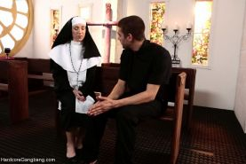 Nun Gangbanged by 5 Priests in Chapel