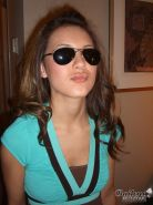 Real amateur teen girl in sunglasses