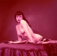 Color porn photos with nude pinup queen Bettie Page