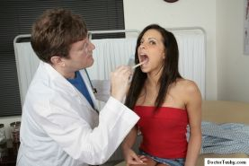 Amateur medical fetish with cutie gets vaginal and anal check