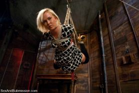 Sasha Knox rope bound and humiliated with sex by Master