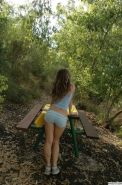 Lovely tiny girl Emily 18 enjoying her small tits and ass outdoors #68355921