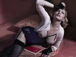 Madonna showing off her boobs in the Mert Alas and Marcus Piggott photoshoot for