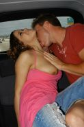 but her tits too! This backseat action was well worth a cigarette pack!