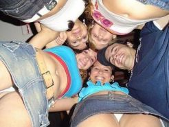 Homemade amateur teen collection of flashing and partying GFs #68295363