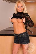Busty MILF Sarah Simon prepares a romantic dinner for her younger lover, but it