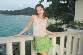 Gorgeous Ivana Fukalot showing her petite young body outdoors