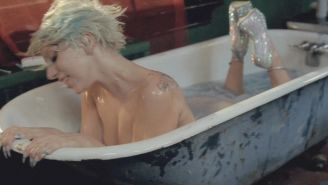Lady Gaga completely nude in the bathtub