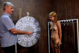 Wheel of pain 11 featuring slave Helen in a BDSM reality show
