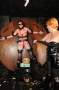 Electro shock tazer torture of lesbian slavegirl Jessica in breast whipping and