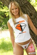 Teen model Jewel showing off her new gear from FreeOnes