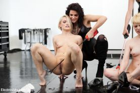 Bobbi Starr  Maitresse Madeline Unveil the New Electrosluts Set by Breaking Two