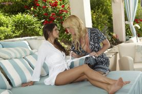 Angela Sommers and Aspen Rae get their vagina juices flowing lik