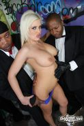 Interracial bukkake with Andi Anderson and lots of big black cocks