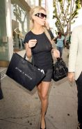 Tara Reid naked and see thru black dress paparazzi pictures