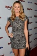 Stacy Keibler looking hot in sexy mini dress at 2012 American Music Awards In LA