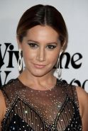 Ashley Tisdale see through to black lingerie at event
