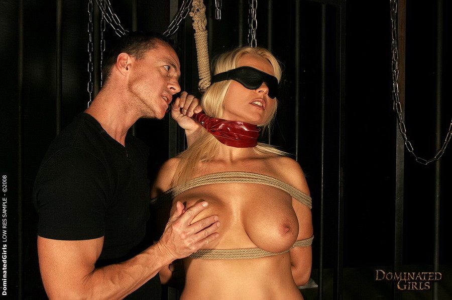 Submissive blonde gets rough anal fuck at hot BDSM sex #72188388