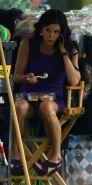 Courteney Cox flashing her panties and show great body in tight dress