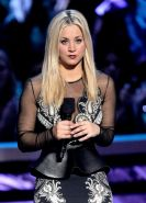 Kaley Cuoco busty wearing various sexy dresses at People's Choice Awards 2013 in