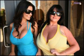 Rachel Aldana and Denise Milani candid shots