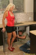 A needy housewife gets fucked by a plumber