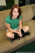 Slutty redhead teen coed gets her pussy stretched by a big black dick
