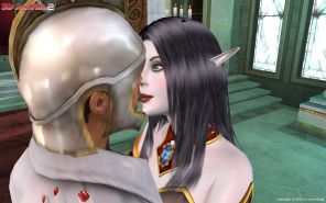 Cyber elf gets double penetrated by her guards