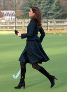 Kate Middleton plays field hockey in pangbourne
