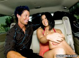 Pornstar Eva Angelina on a date with a regular guy