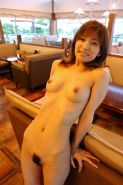 A candid pics of hairy Japanese woman poses public