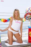 Mia Malkova celebrates her birthday at the beach