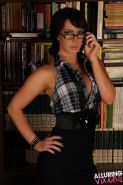 Sexy librarian Alexia gives you a very hot tease in the library