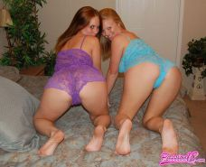 Pictures of teen Passion 18 getting some hot lesbian action