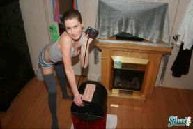 Pictures of teen Shai West riding her sybian
