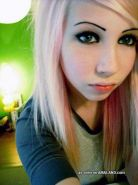 Photo compilation of a stunning amateur blondie emo girl
