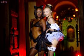 Chanell Heart and Karla Kush get each other off in their hot costumes