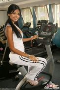 Pictures of teen star Karla Spice getting hot while she works out