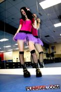 Pictures of punk girl Kitten Pink looking hot in the dance studio