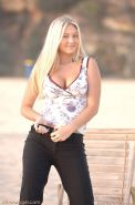 Pictures of Alison Angel having some fun in the sun