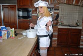 Pictures of a sexy chef getting freaky this Halloween