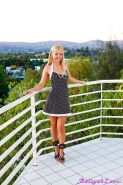 Pictures of Aaliyah Love getting naked on the balcony