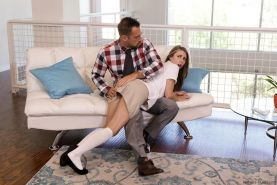 Hot teen Anya Olsen gets punished by her step-dad