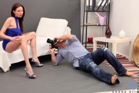 After a good photo shoot naughty Sasha Dii gets ass fucked by the lucky photographer