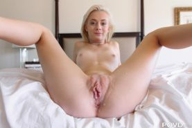 Tiny bonde Maddy Rose gets her pussy explored by a huge cock